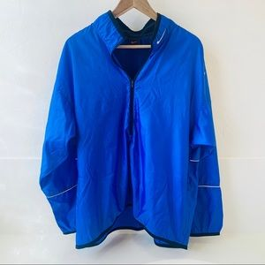 Nike blue windbreaker full zip with pockets Men L